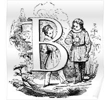 Child Alphabet Letter B Poster