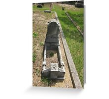 1877 childs grave marker Greeting Card
