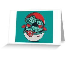 Green Pokehouse Greeting Card