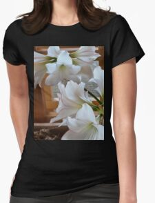 WHITE AMARYLLIS CLUSTERS Womens Fitted T-Shirt