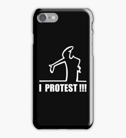 Cool Funny Cartoon I Protest iPhone Case/Skin