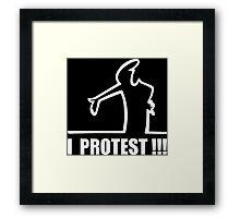 Cool Funny Cartoon I Protest Framed Print
