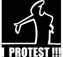 Cool Funny Cartoon I Protest Photographic Print