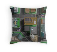 Super Hero City Map - Great for Action Figures Throw Pillow