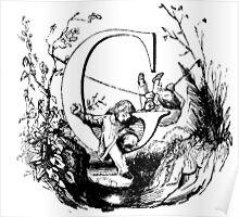 Child Alphabet Letter G Poster