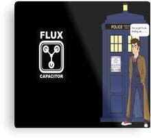 Dr Who David Tennant vs Back to the Future Metal Print
