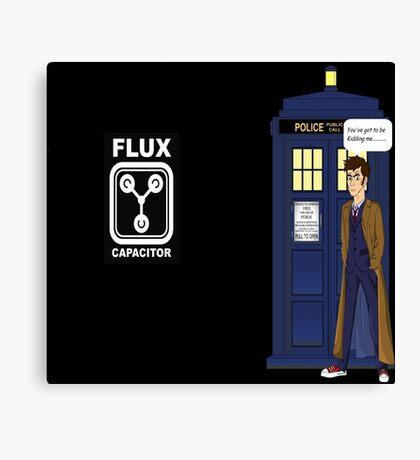 Dr Who David Tennant vs Back to the Future Canvas Print