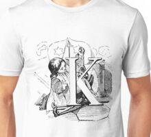 Child Alphabet Letter K Unisex T-Shirt