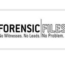 Forensic Files Sticker