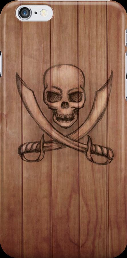 Pirate iPhone & i Pad case by Sarah  Mac