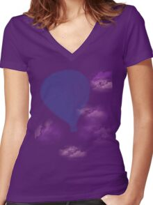 Hot Air Balloon (another one, yes) Women's Fitted V-Neck T-Shirt