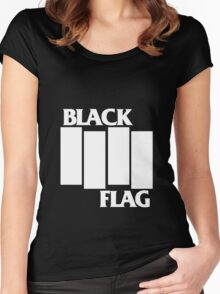 Black Flag Band Women's Fitted Scoop T-Shirt