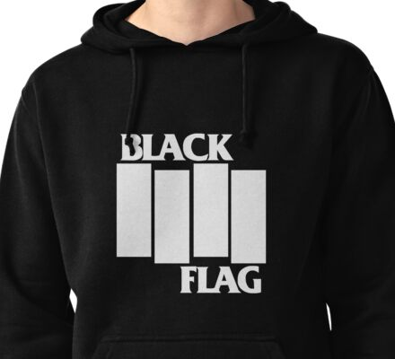 Black Flag Band Pullover Hoodie