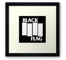 Black Flag Band Framed Print