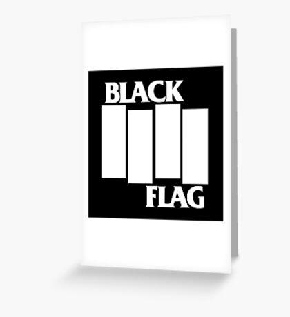 Black Flag Band Greeting Card