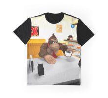 Donkey Kong at breakfast Graphic T-Shirt