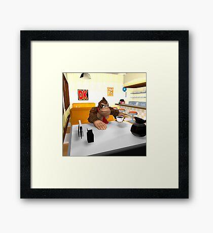 Donkey Kong at breakfast Framed Print