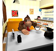 Donkey Kong at breakfast Photographic Print