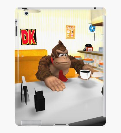 Donkey Kong at breakfast iPad Case/Skin