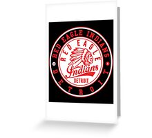 Red Eagle Indians Detroit Ice Hockey Greeting Card