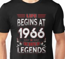 Life Begins At 50 1966 The Birth Of Legends T-Shirt Unisex T-Shirt