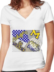 University of Michigan Women's Fitted V-Neck T-Shirt