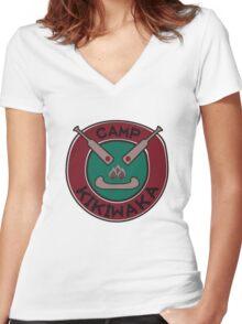 Camp Kikiwaka Women's Fitted V-Neck T-Shirt
