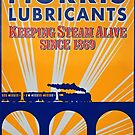 Tin Plate Sign - Morris Lubricants by RedHillDigital