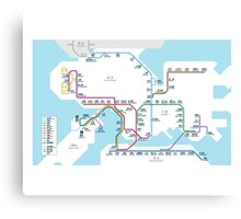 Hong Kong MTR Map 2016 Canvas Print