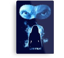 LISTEN Twelfth Doctor - Blue Metal Print