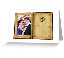 Outlander/Jamie & Claire in open book Greeting Card