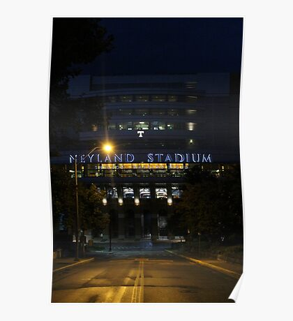 Neyland Stadium at Night Poster