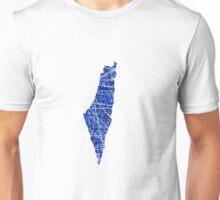 Israel Blue Outline Unisex T-Shirt