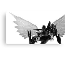 Silver Crow and Black Lotus Canvas Print