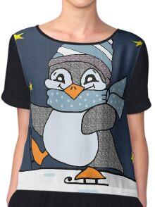 Little Penguin Chiffon Top