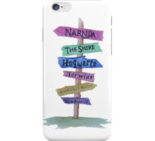 Signpost to Fandoms iPhone Case/Skin