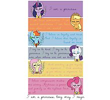 I Am A Princess [Mane 6] Photographic Print