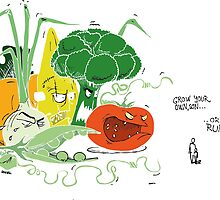 vegge color monsters... without contures..  by Rado van Sensel