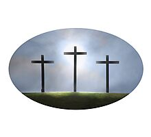 Three Crosses of Easter Photographic Print