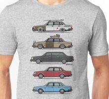 Stack of Volvo 240 Series 244 Sedans Unisex T-Shirt