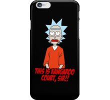the trial of rick sanchez iPhone Case/Skin