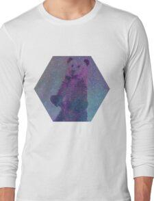 Bear Nebula (brown bear in a starry sky) Long Sleeve T-Shirt