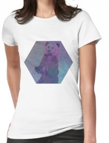 Bear Nebula (brown bear in a starry sky) Womens Fitted T-Shirt