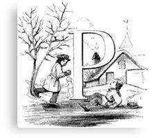 Child Alphabet Letter P Canvas Print