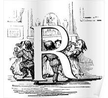 Child Alphabet Letter R  Poster
