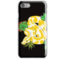 Albino Ball Pythons with Succulents iPhone Case/Skin