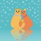 Winter Cats by Jean Gregory  Evans