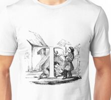 Child Alphabet Letter T Unisex T-Shirt