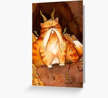 Cat Dragon Greeting Card