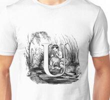 Child Alphabet Letter U Unisex T-Shirt
